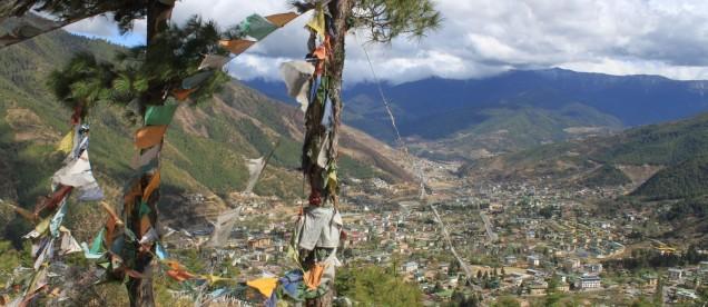 Widok na Thimpu