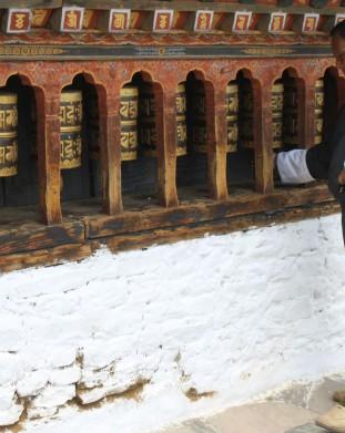 świątynia Changangkha, zbudowana w XV wieku, w której modli się wielu mieszkańców Thimpu.
