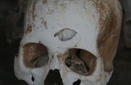 Kambodża,  Tuol Sleng – muzeum ludobójstwa (w czasie panowania Czerwonych Khmerów zginęło tu około 17 tysięcy ludzi).