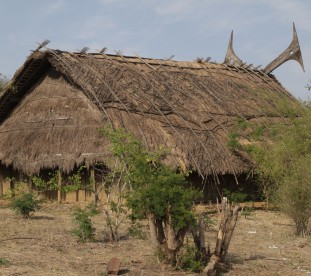 Tradycyjne chaty plemion Naga