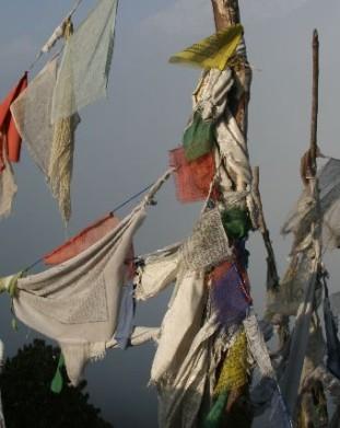 flagi tybetańskie - Poon Hill