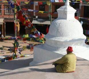 Bodhnat - osiedle tybetańskie pelłne świątyń i klasztorów