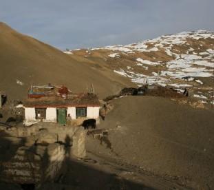 Wioska Komik, Spiti, Dolina Pin, Spiti,  Stan Himachal Pradesh