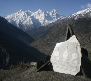 Kanam - widok na Kinnaur Kailash, Dolina Pin, Spiti,  Stan Himachal Pradesh