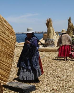 Jezioro Titicaca - Pływające wyspy Indian Oro
