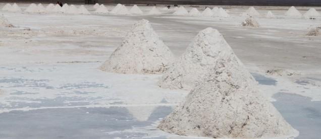 Salar de Uyuni - wydobycie soli