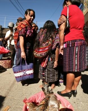 Chichicastenango – na bazarze