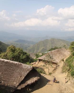 Longwa - wioska na granicy z Birmą. Nagaland