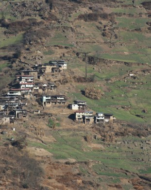wioski w górach. Tawang