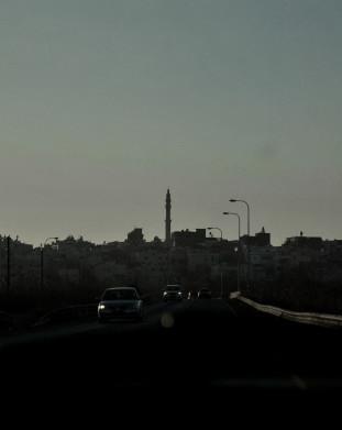 Widok na wioskę Jisr az-Zarqa.