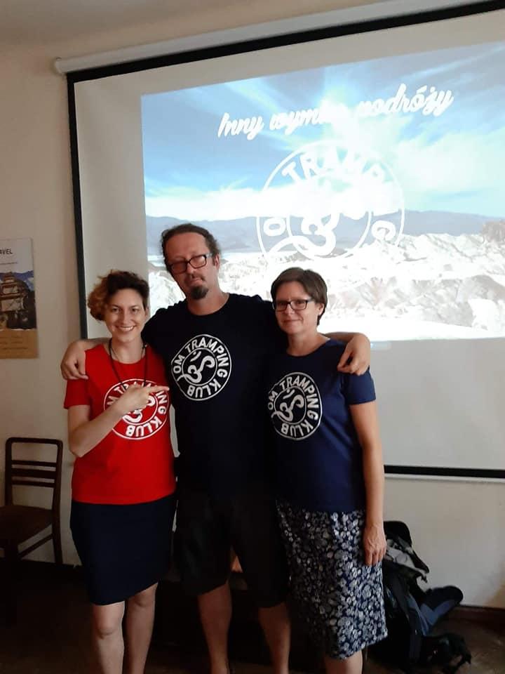 Tomek Tułak, Aga Tułak, Felicja Bilska - ekipa Om Tramping Klub