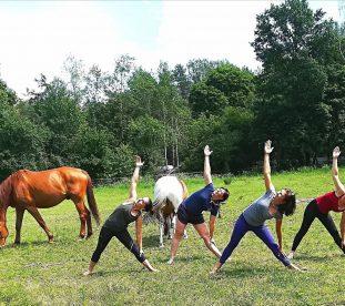 Dziewczyny cwiczace joge